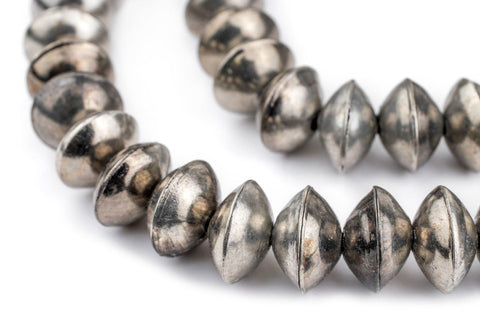 Image of Ethiopian Silver Saucer Beads (14mm) - The Bead Chest