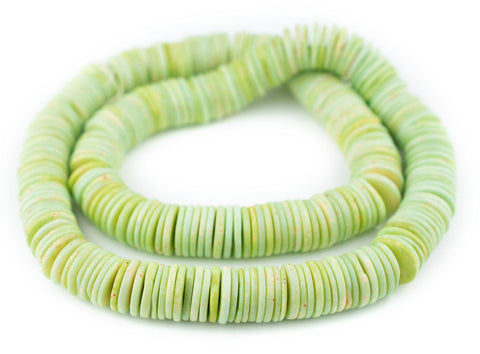 Image of Jade Green Bone Button Beads (14mm)
