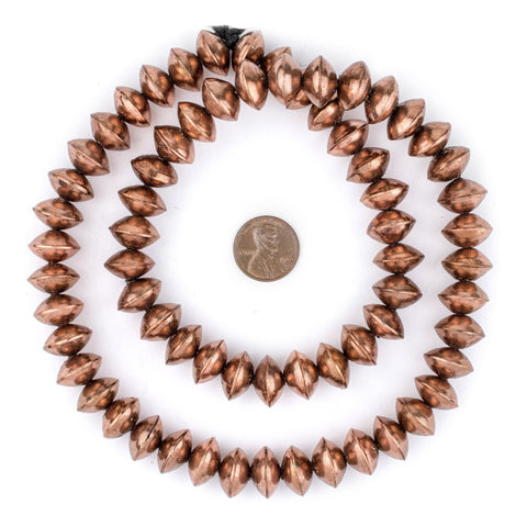 Ethiopian Copper Saucer Beads (14mm) - The Bead Chest