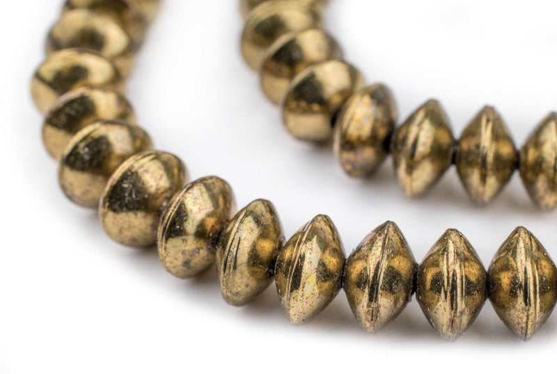 Ethiopian Brass Saucer Beads (10mm) - The Bead Chest