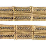 Brass Lattice Rectangular Baule Beads (45x36mm)