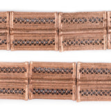 Copper Lattice Rectangular Baule Beads (45x36mm)