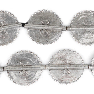 Silver Traditional Sun Baule Beads (54x46mm) - The Bead Chest