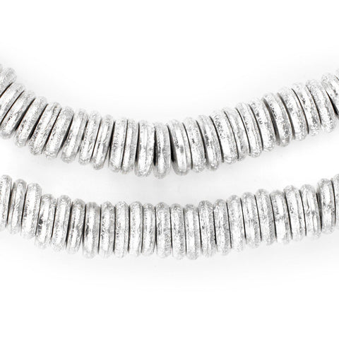 Silver Donut Beads (10mm) - The Bead Chest