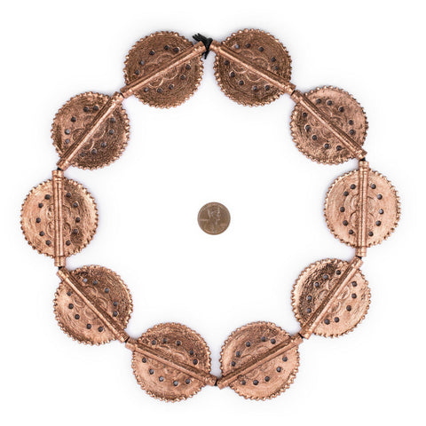 Copper Sun Dotted Baule Beads (55x45mm) - The Bead Chest