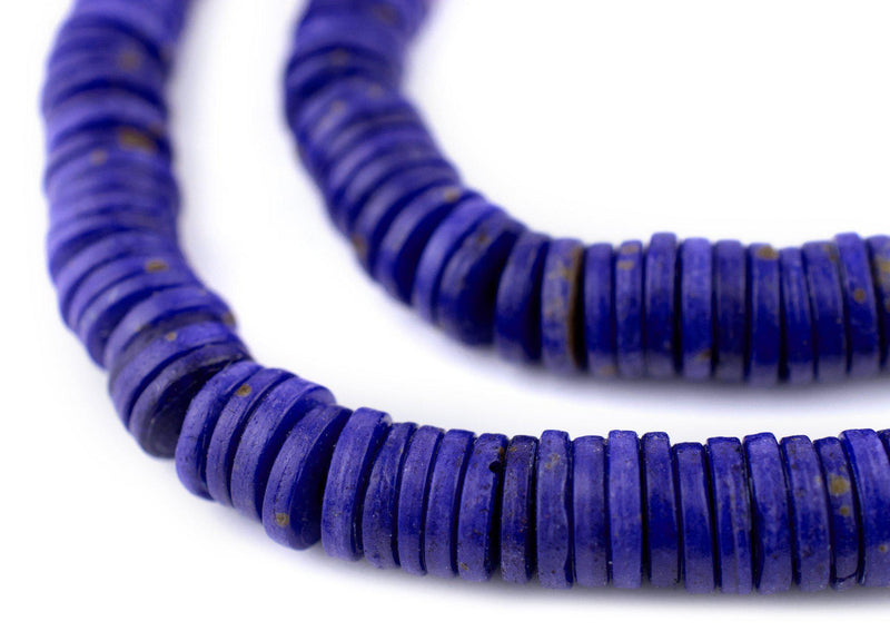Lapis Blue Bone Button Beads (8mm)