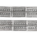 Silver Rectangular Dotted Baule Beads (54x41mm)
