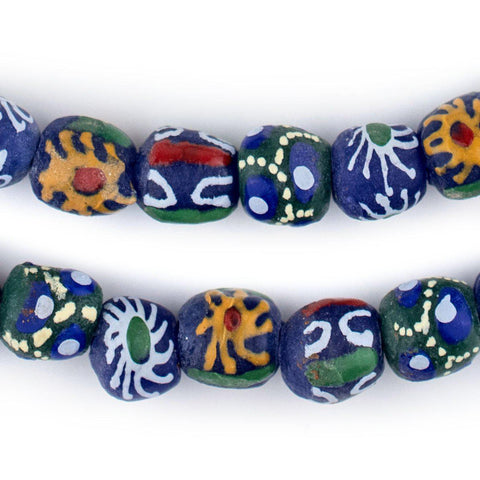 Image of Mixed Blue Krobo Beads