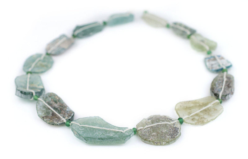 Oval Disk Roman Glass Beads (23-39mm) - The Bead Chest