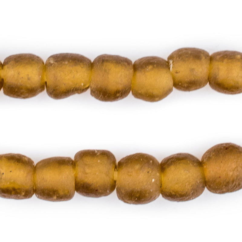Amber Recycled Glass Beads (11mm) - The Bead Chest