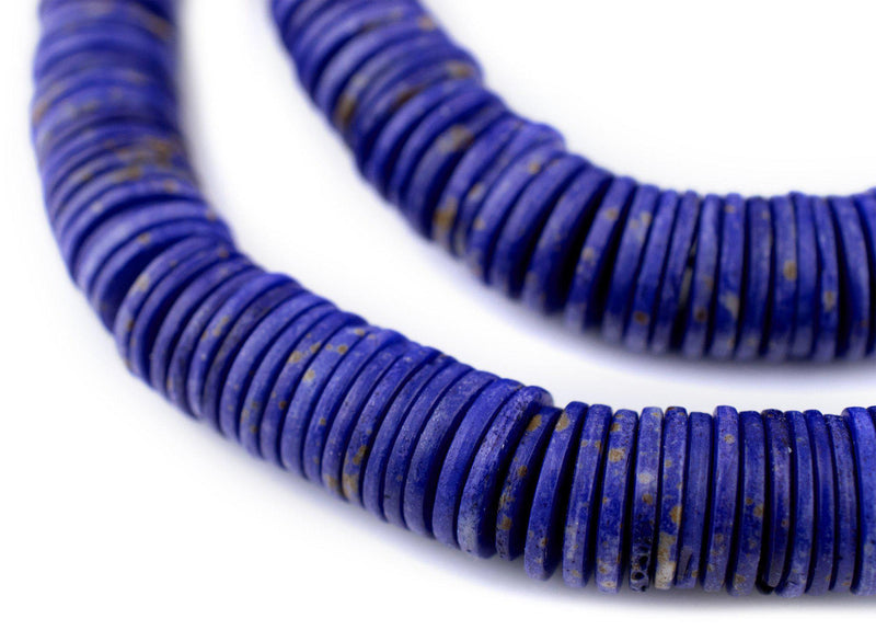 Lapis Bone Button Beads (14mm)