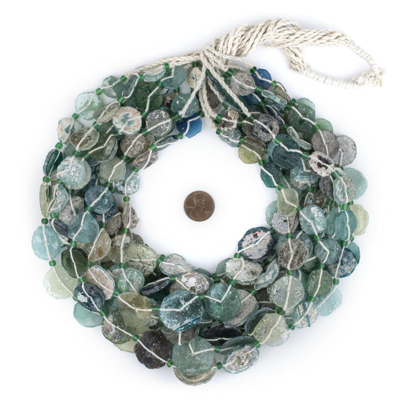 Circular Disk Roman Glass Beads (14-28mm) - The Bead Chest