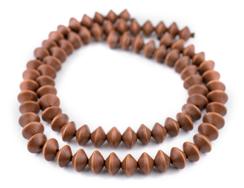 Light Brown Bicone Natural Wood Beads (10x15mm) - The Bead Chest
