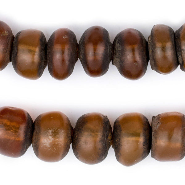 Translucent Moroccan Honey Amber Resin Beads (12x16mm) - The Bead Chest