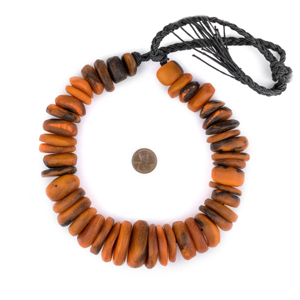 Amber Swirl Moroccan Horn Beads