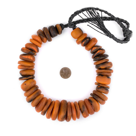 Amber Swirl Moroccan Horn Beads - The Bead Chest