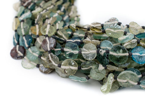 Medley Roman Glass Button Beads (8mm) - The Bead Chest