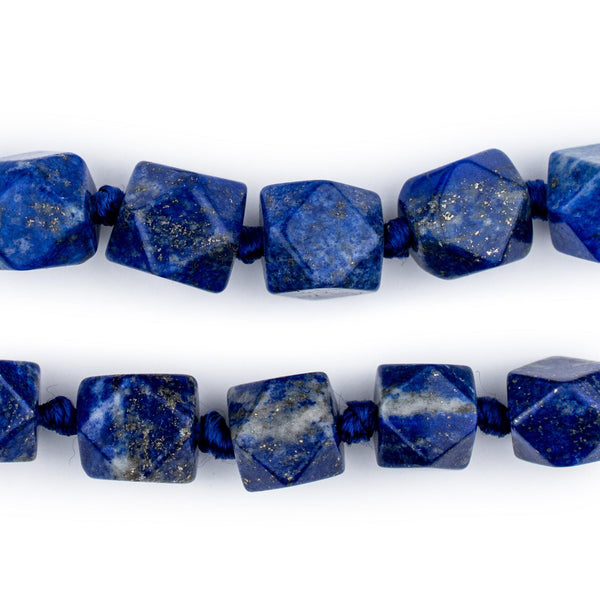 Cornerless Cube Lapis Lazuli Beads (9-14mm) - The Bead Chest