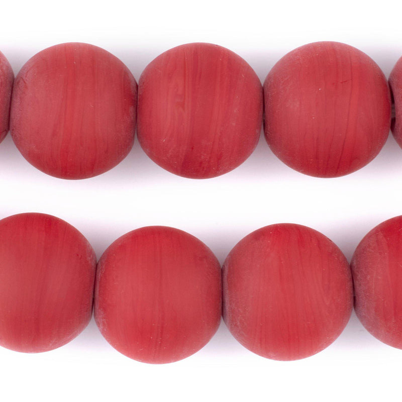 Round Colodonte Beads (Red) - The Bead Chest