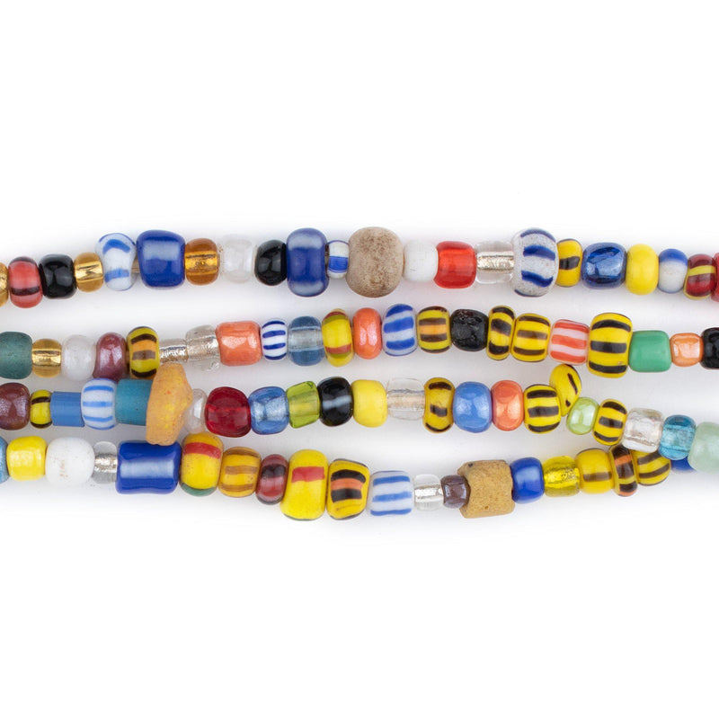 Mixed Ghana Chevron Beads