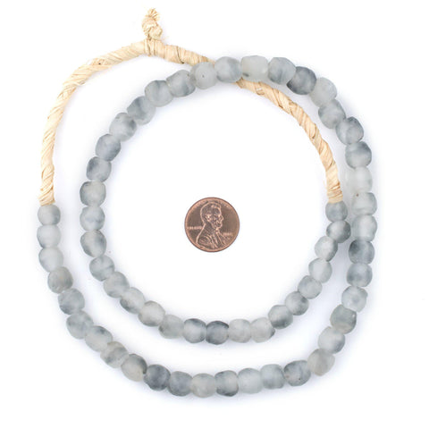 Grey Mist Recycled Glass Beads (9mm) - The Bead Chest