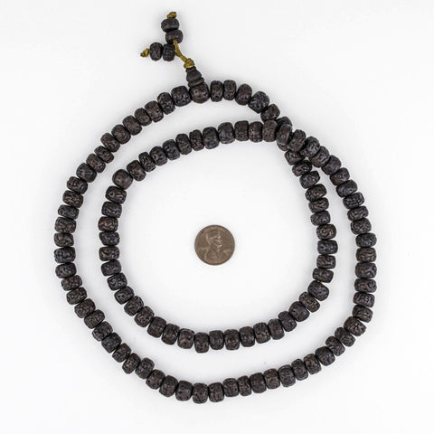 Nepal Blackened Rudraksha Mala Beads (10mm) - The Bead Chest