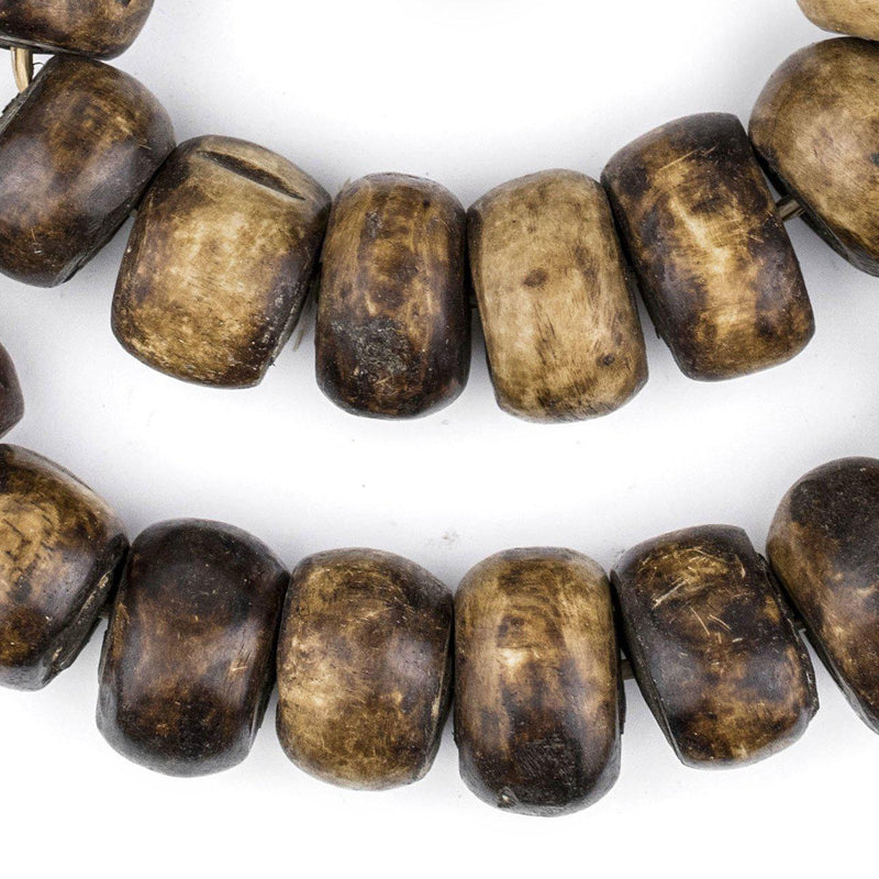 Brown Kenya Bone Beads (26mm) - The Bead Chest
