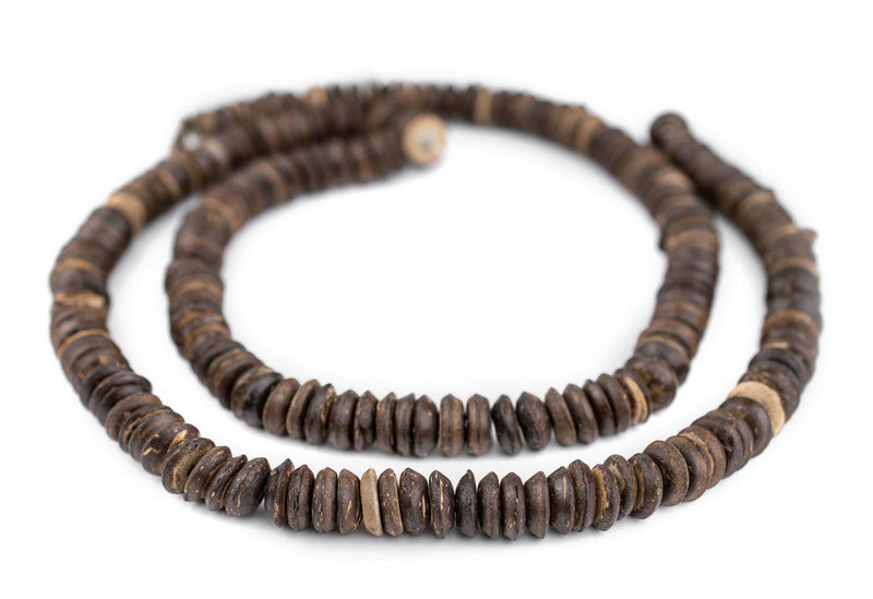 Dark Coconut Wood Disk Beads (11mm) - The Bead Chest