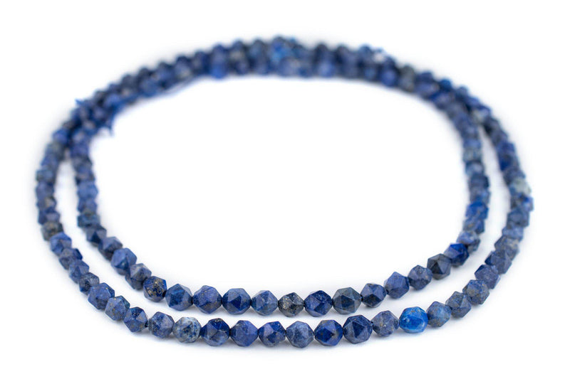 Faceted Lapis Lazuli Beads (6mm) - The Bead Chest
