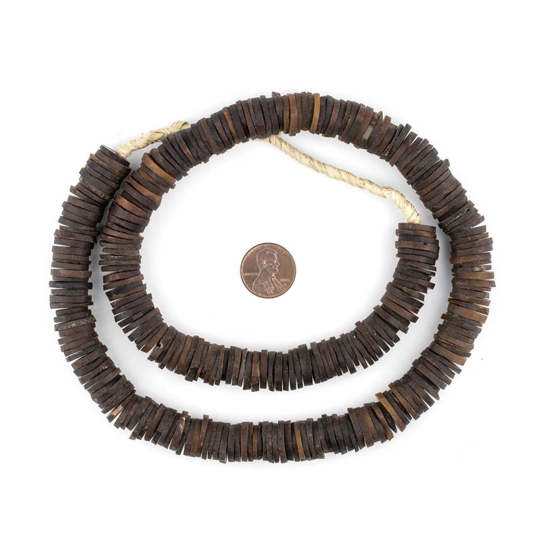 Dark Brown Coconut Bone Beads (12mm) - The Bead Chest