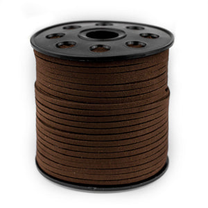 3mm Flat Dark Brown Faux Suede Cord (300ft) - The Bead Chest