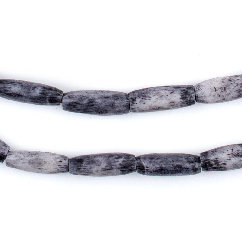 Grey Kenya Bone Beads (Oval) - The Bead Chest
