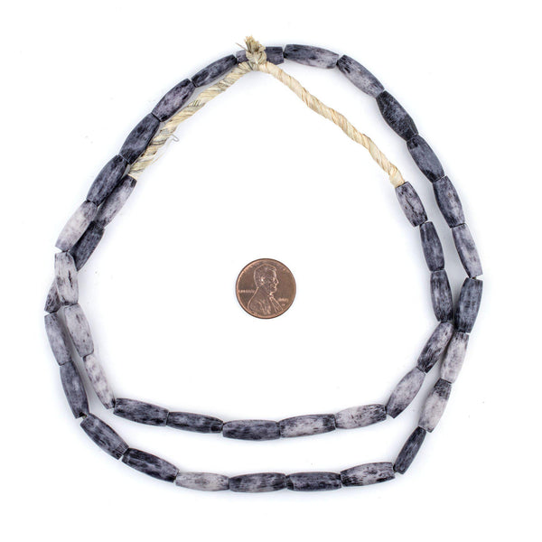 Grey Kenya Bone Beads (Oval)
