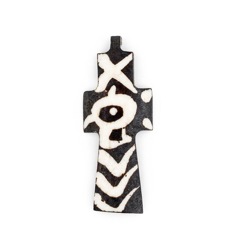 Batik Bone Cross Pendant (Eye) - The Bead Chest