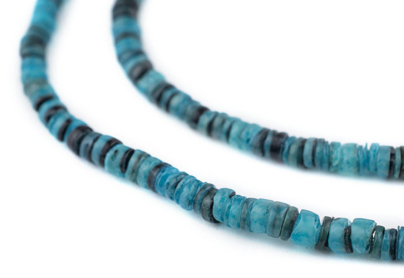 Azul Blue Natural Shell Heishi Beads (5mm) - The Bead Chest
