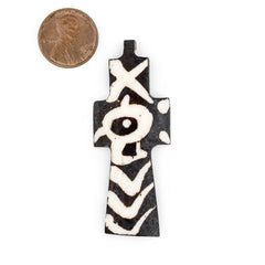 Batik Bone Cross Pendant (Eye)
