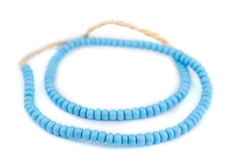 Turquoise Ghana Glass Beads (6mm) - The Bead Chest