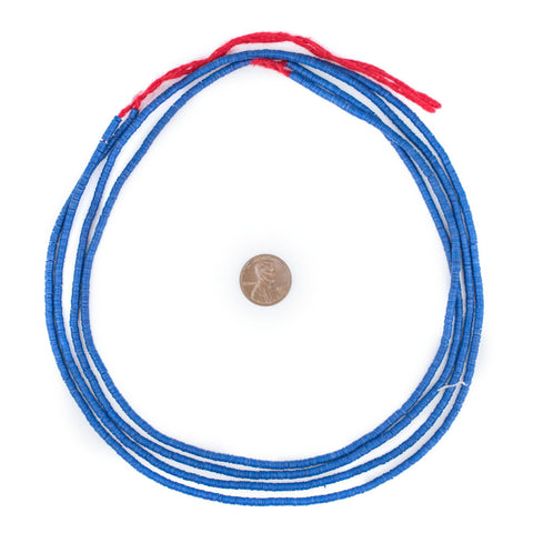 Cobalt Blue Vinyl Phono Record Beads (3mm) - The Bead Chest