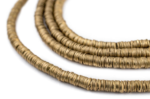 Brass Interlocking Crisp Beads (4mm) - The Bead Chest