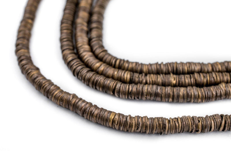 Bronze Interlocking Crisp Beads (4mm) - The Bead Chest
