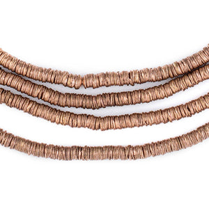 Copper Interlocking Crisp Beads (4mm) - The Bead Chest