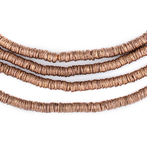 Image of Copper Interlocking Crisp Beads (4mm) - The Bead Chest