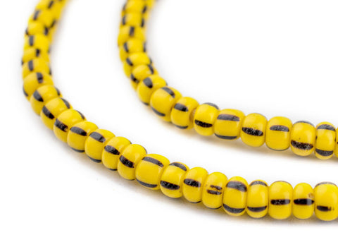 Yellow Jacket Glass Chevron Beads (5mm) - The Bead Chest