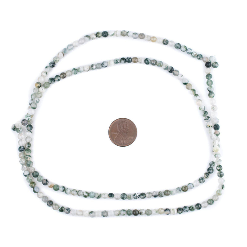 Round Tree Agate Beads (4mm)