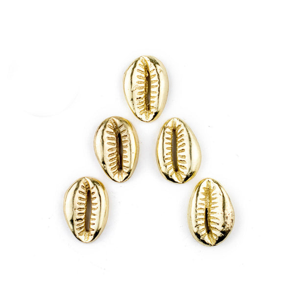 Gold Cowrie Shell Beads (Set of 5) - The Bead Chest