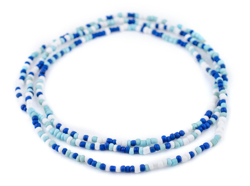 "Blue Medley Java Glass Seed Beads (44"" Strand) - The Bead Chest"