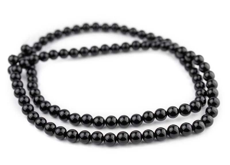 Round Black Obsidian Beads (8mm)