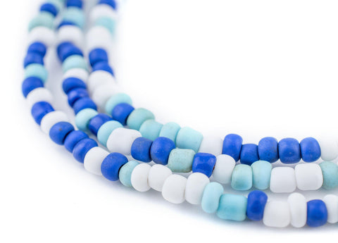 "Image of Blue Medley Java Glass Seed Beads (44"" Strand) - The Bead Chest"