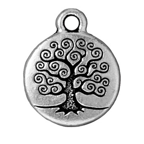 Antiqued Silver Tree of Life Charm (19x16mm)