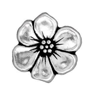 Antiqued Silver Apple Blossom Button (16x5mm)
